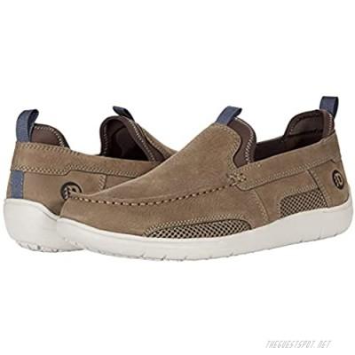 Dunham Fitsmart Men's Slip-on Loafer Shoe Breen Nubuck - 9 Wide