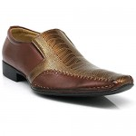 Men Dress Loafers with Aligator Prints Slip on Lace up Oxfords Patent Dress Shoes (VIP-exp) …