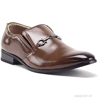 Men's 99344 Classic Square Toe Slip On Loafers Casual Dress Shoes
