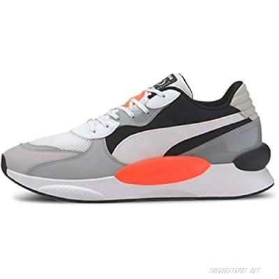 PUMA RS 9.8 Sneaker White-High Rise Black 12 M US