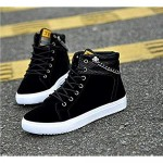 tazimall Fashion Men's Tide Shoes Canvas Shoes High to Help Casual Shoes