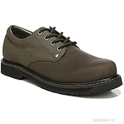 Dr. Scholl's Shoes Men's Harrington II Work Shoe Brown Leather 9 Wide