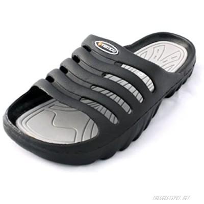 Vertico Men's Shower and Pool Slide On Sandal Black and Gray