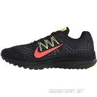 Nike Men's Air Zoom Winflo 5 (Black/Bright Crimson-Volt 9.5)