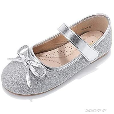 DeerBunny Toddler/Little Kids Girls Ballet Mary Jane Flats Shoes Wedding Princess Dress Shoe