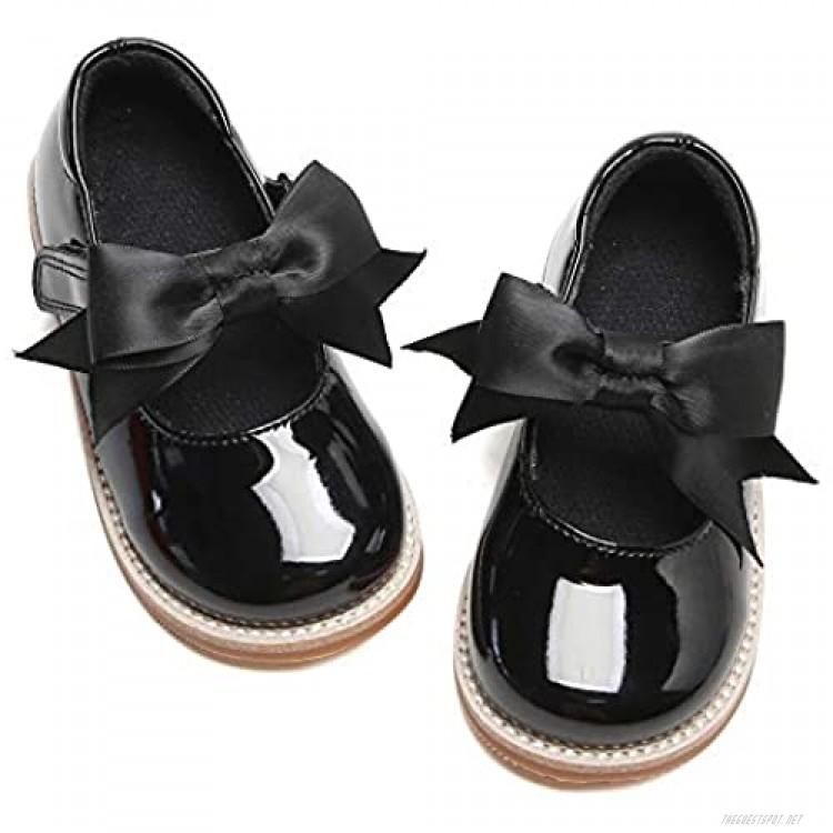 Kiderence Girls Flat Dress Shoes School Oxfords Marry Jane (Toddler/Little Kids)