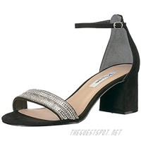 NINA Womens Elenora Open Toe Special Occasion Ankle Strap