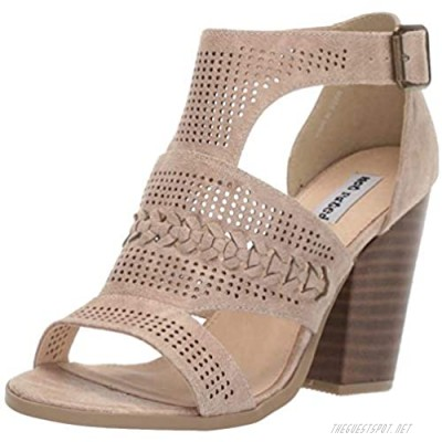 Not Rated Kira High Heel City Sandal with Perforations and Braided Details