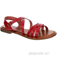 Xappeal Clarissa - Womens Casual Ankle Strap Summer Dress Open Toe Flip Flop Sandals