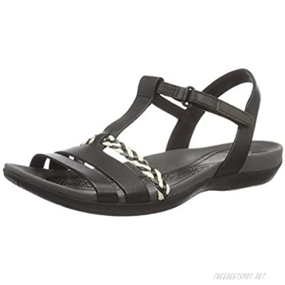 Clarks Women's Tealite Grace Wedge Heels Sandals Black Black Leather