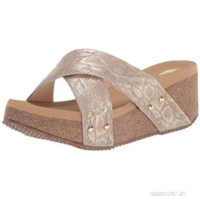 Volatile Women's Criss Cross Slide Wedge Sandal