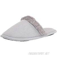 isotoner Women's Microterry Spa Clog Slipper with Enhanced Heel Cushion