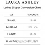 Laura Ashley Womens Ladies Luxury Spa Sherpa One Band with Memory Foam Slippers (See More Colors and Sizes)