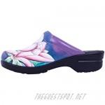 Anuschka Women's Leather Printed Leather Slip-On Clog - Rebecca | Memory Foam Footbed