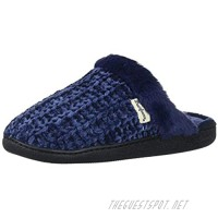 Dearfoams Women's Marled Cable Knit Chenille Clog with Wide Widths Slipper