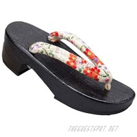 Ez-sofei Traditional Japanese Wooden Clogs Geta Sandals for Women