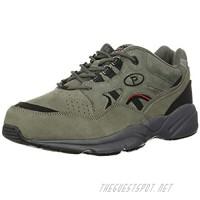 Propet Women's Stability Walker Sneaker Pewter Suede 9 XX-Wide