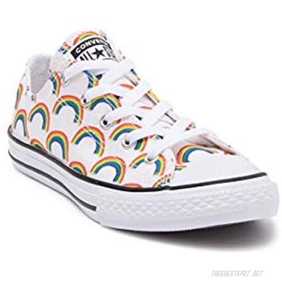 Converse Junior Chuck Taylor All Star Oxford Rainbow Sneaker Bright Crimson/White (Numeric_3)