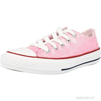 Converse Unisex-Child Kids' Chuck Taylor All Star Sport Sparkle Low Top Sneaker