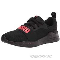 PUMA Kids Wired Run Sneaker Black-High Risk Red 10 US Unisex Toddler