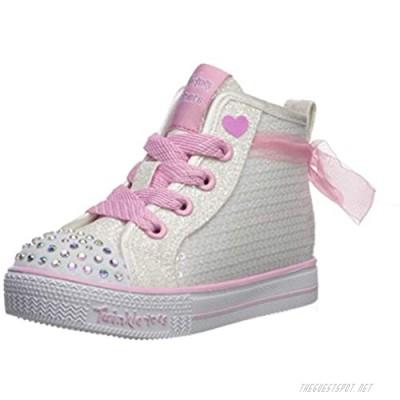 Skechers Unisex-Child Shuffle Lite-Sparkle Beauty Sneaker