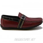 Stylish & Comfort Shoes Boy's Slip-On Flat Moccasin Exterior Stitching Casual Loafer Boat Shoes