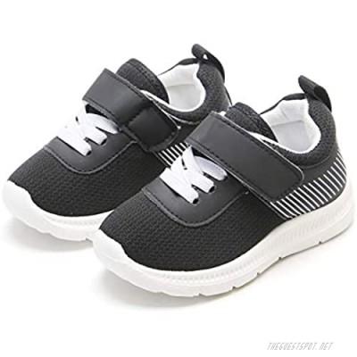 Kiderence Toddler Boys Sneakers Little Boy Running Sports Black Shoes(Toddler/Little Kids)