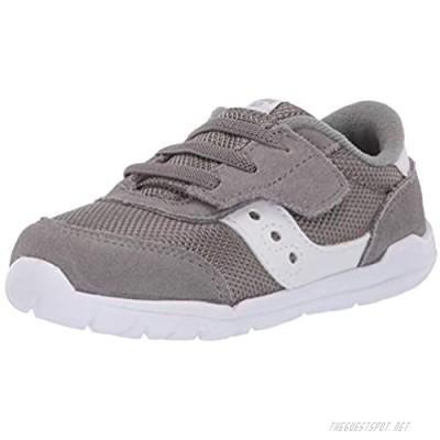 Saucony boys Jazz Riff Sneaker Grey/White 7.5 Wide Little Kid US