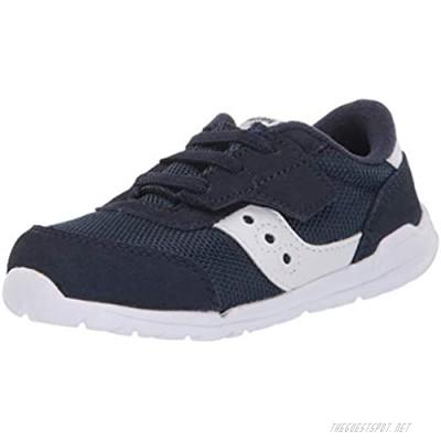 Saucony boys Jazz Riff Sneaker Navy/White 5 X-Wide Little Kid US