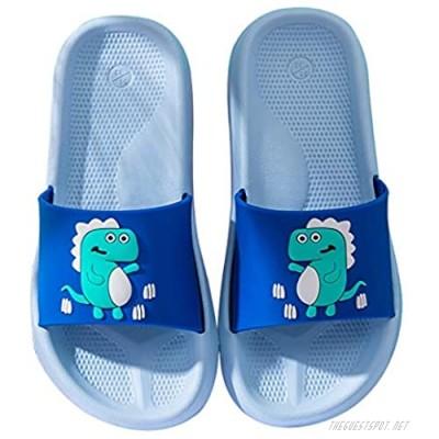 ChayChax Boys Girls Slide Sandals Cute Dinosaur Beach Slippers Kids Lightweight Summer House Slipper Shoes Non-Slip for Shower Pool